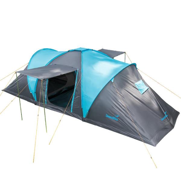 Tente familiale Skandika Hammerfest 6 Protect Tente dôme 6 personnes, tapis de sol cousu, marquises