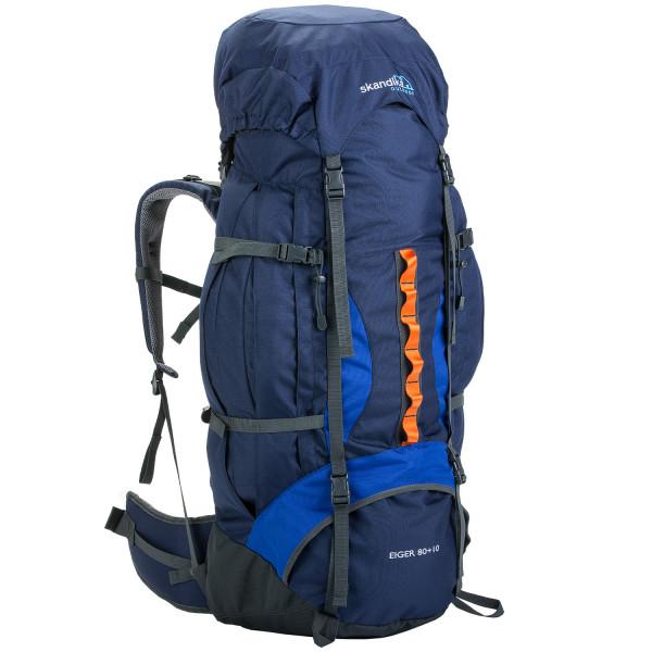 Sac à dos de trekking Skandika Eiger 80+10 (bleu)