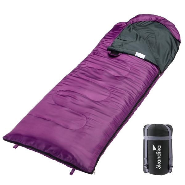 Sac de couchage Skandika Skye violet (zip à gauche)