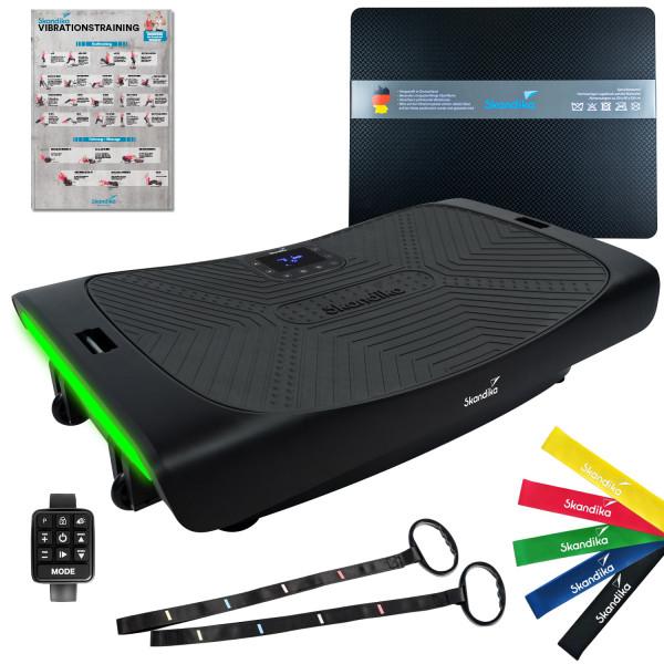 SKANDIKA Plateforme vibrante 4D V3000 avec tapis anti-vibrations (noir)