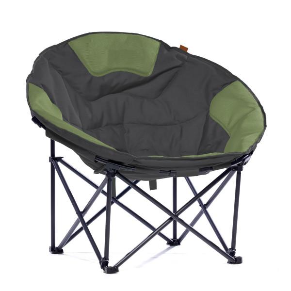 SKANDIKA Fauteuil de camping Moonchair Deluxe XXL (gris/vert)