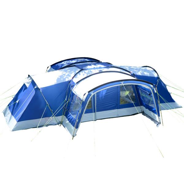 Tente familiale Skandika Nimbus 12 Sleeper (bleu)