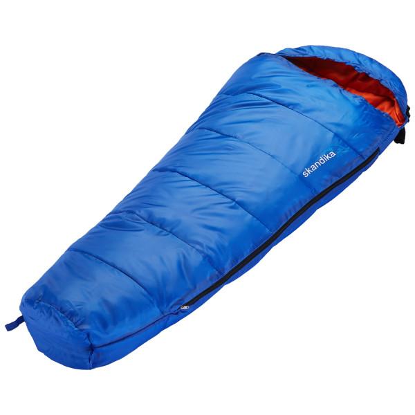 Sac de couchage enfant Skandika Vegas Junior, 170 x 70 cm, + 13 à -12 °C, microfibre (bleu)