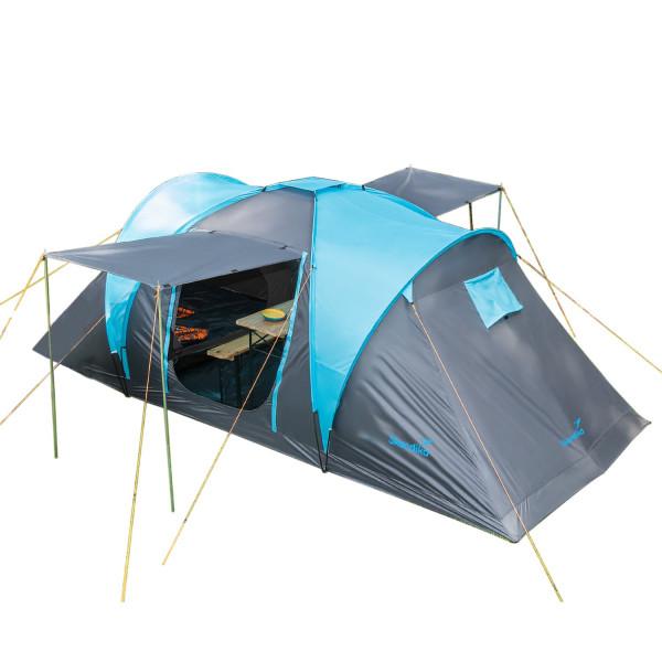 Tente familiale Skandika Hammerfest 4 Protect Tente dôme 4 personnes, tapis de sol cousu, marquise