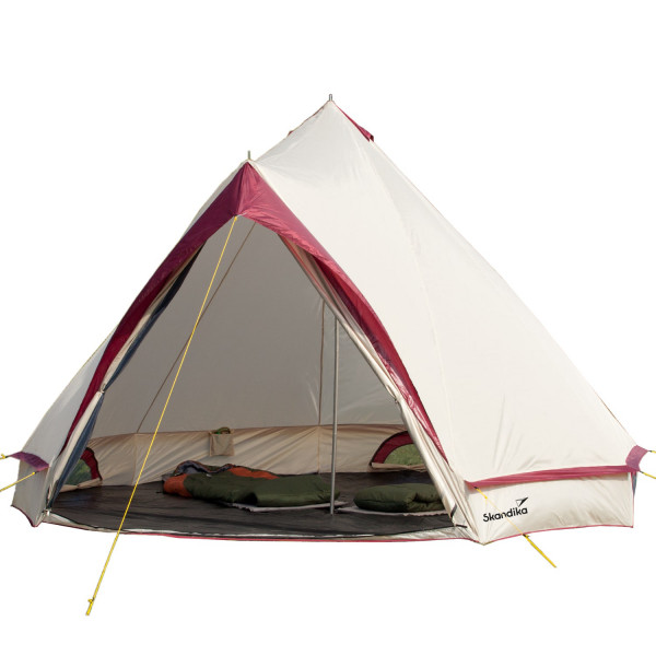 Tente Tipi Skandika Comanche Tente indienne 8 places (sable/rouge)