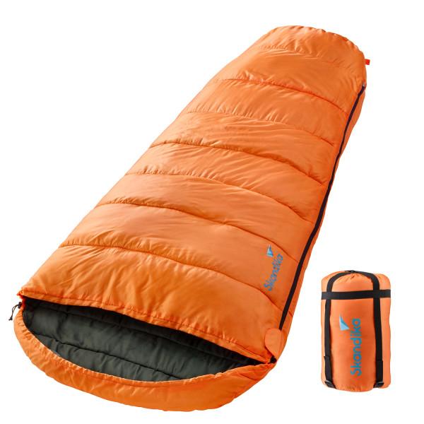 Sac de couchage momie Vegas (orange) (zip à droite)
