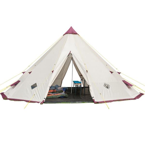 Tente tipi Skandika Tipii 301 pour 12 personnes avec tapis de sol cousu