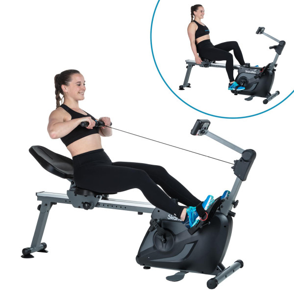 Skandika Vinur appareil 3en1: rameur, vélo semi-allongé, musculation