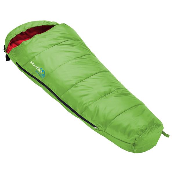 Sac de couchage enfant Skandika Vegas Junior, 170 x 70 cm, + 13 à -12 °C, microfibre (vert)