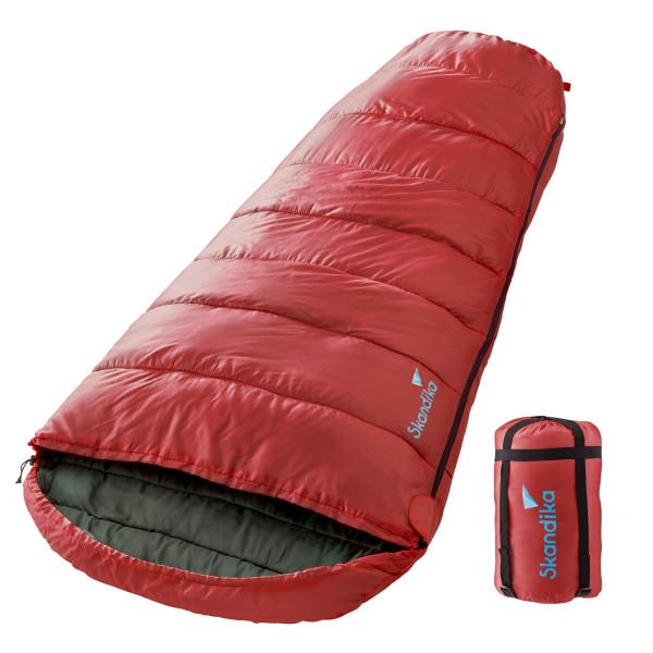 Sac de couchage momie Vegas (rouge) (zip à gauche)