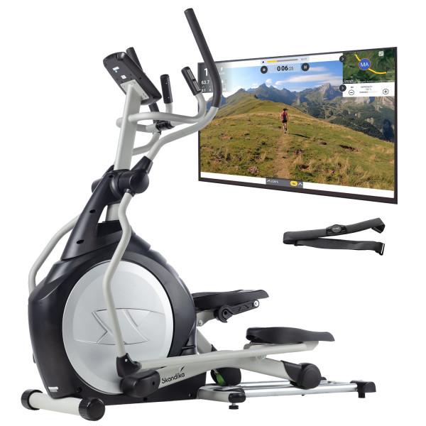 Vélo elliptique Skandika CardioCross Carbon Pro, Argent