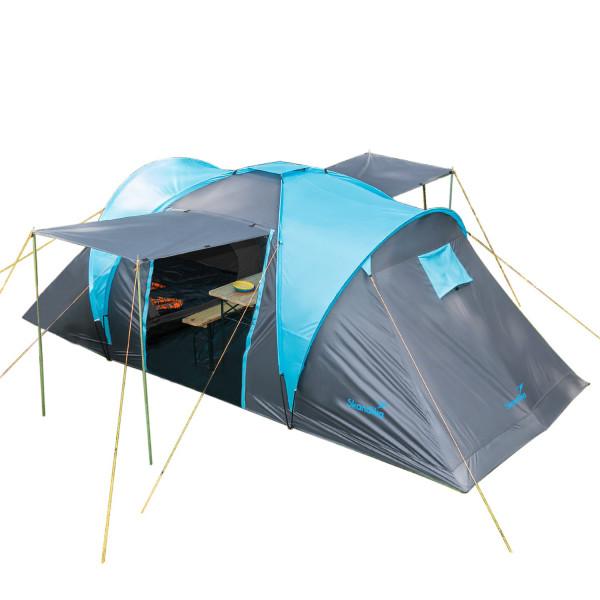 Tente familiale Skandika Hammerfest 4 Tente dôme 4 personnes, avec 2 marquises